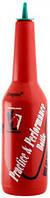 Бутылка для флейринга красного цвета H 290 мм