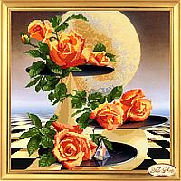 Набор для вышивки бисером Лунные розы НГ-002