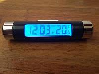 Авто термометр часы для авто с подсветкой