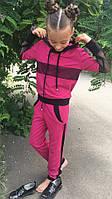 Детский спортивный костюм с капюшоном и декором сеткой, фото 1
