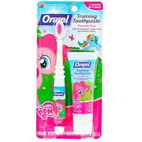 Детская зубная щетка+паста набор, с 3мес до 4 годов,  Orajel, My Little Pony