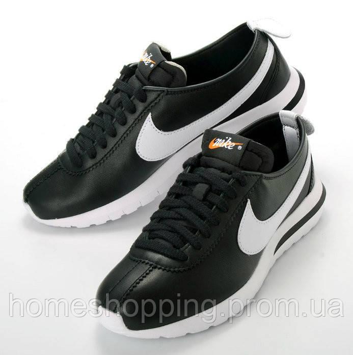 Мужские Кроссовки Nike Roshe Cortez Black черные