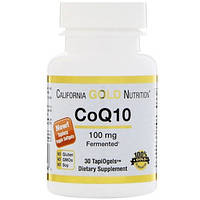 Коэнзим Q10, 100 мг, 30 вегетарианских капсул California Gold Nutrition