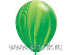 "Шар 11"" Супер Агат Green зеленый"