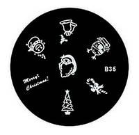 Диски стемпинг для ногтей серии В 5,5 см  B35 BTW /01
