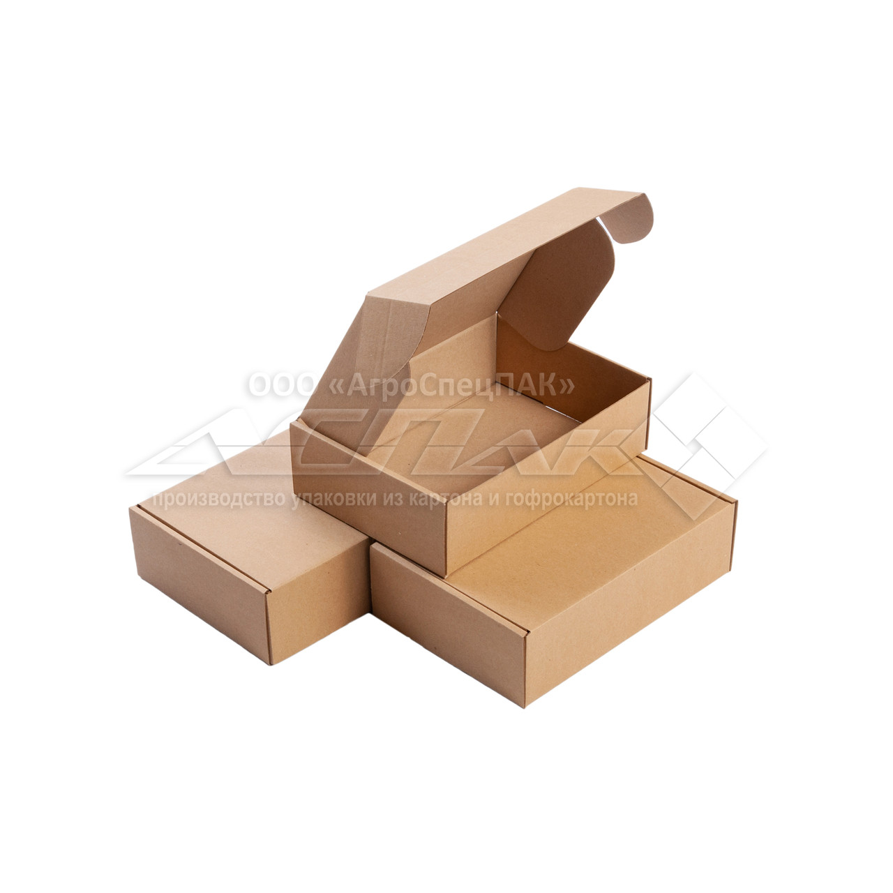 Картонные коробки самосборные 220*155*65 бурые