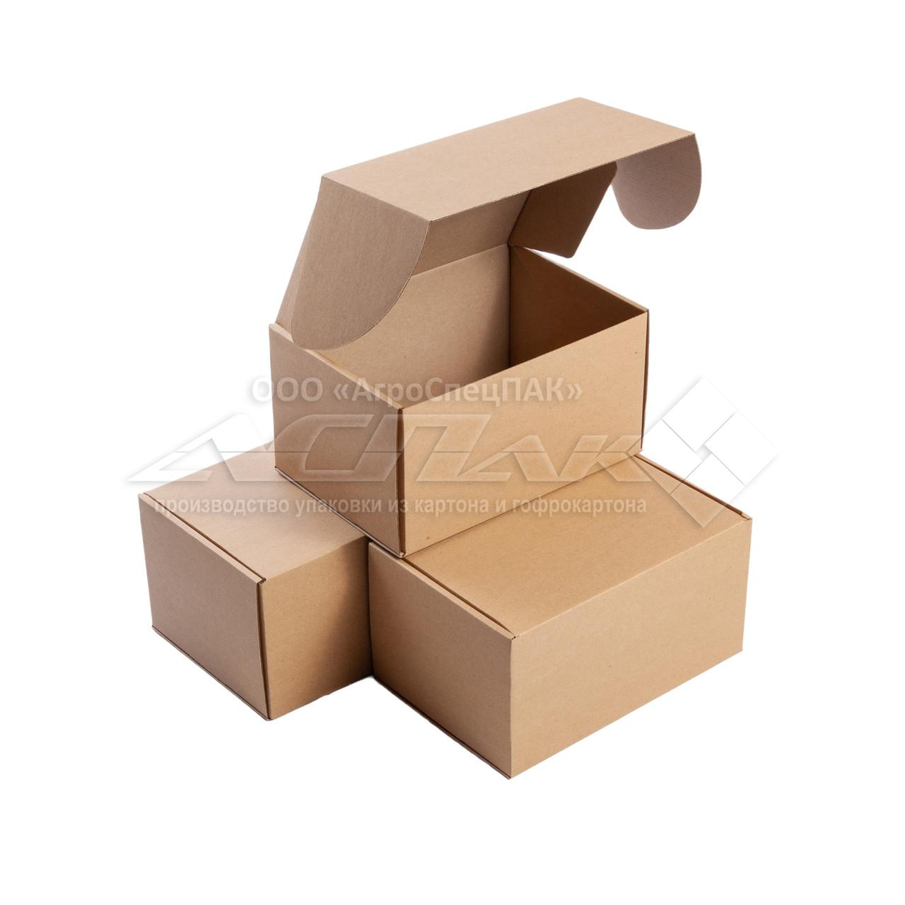Картонные коробки самосборные 220*155*120 бурые