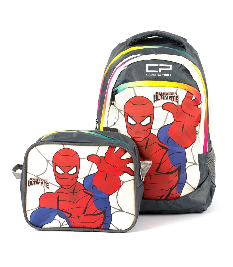 Рюкзак школьный CoolPack Человек-Паук 1400 серый Турция