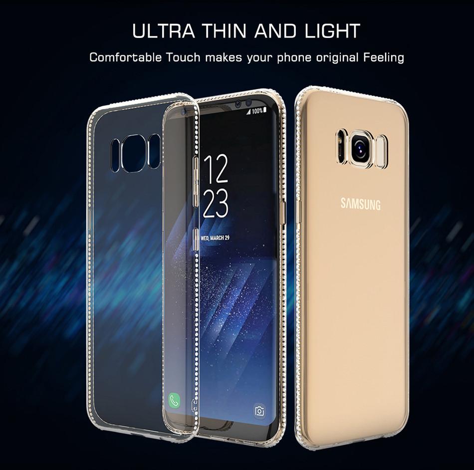 Силиконовый чехол для Samsung Galaxy S8 Plus G955 со стразами