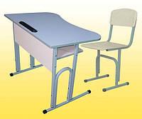 Парта антисколиозная (Лаванда КВ)+ стульчик