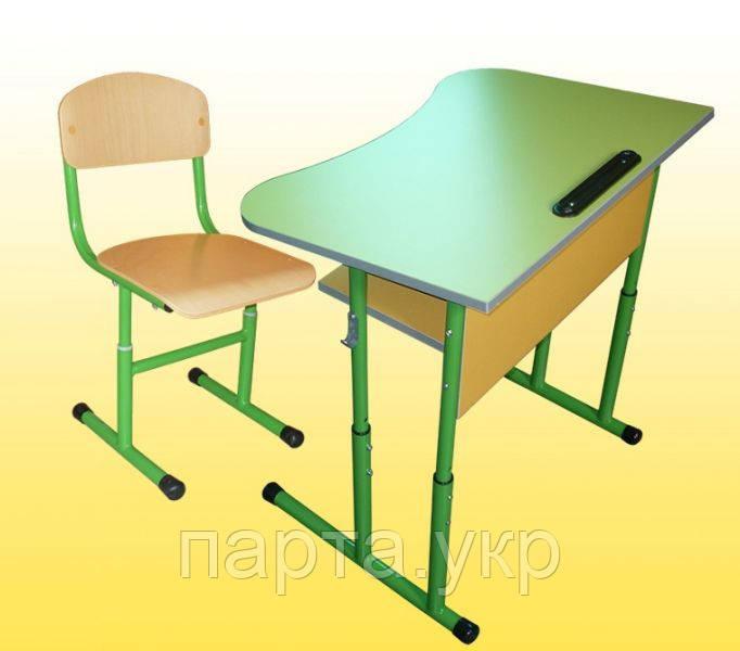 Парта антисколиозная (салатовая) + стульчик