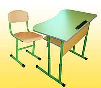 Парта антисколиозная (салатовая) + стульчик, фото 1