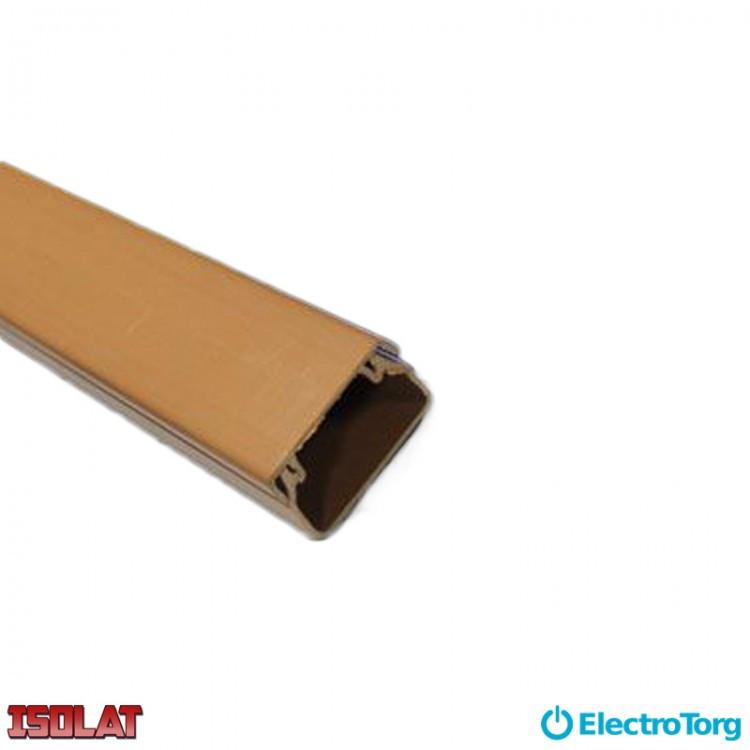 Кабель-канал коричневый 40х80 Изолат