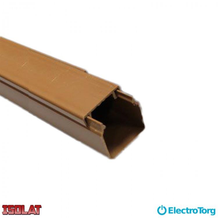 Кабель-канал коричневый 60х60 Изолат