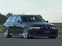 Губа накладка переднего бампера обвес BMW E39 стиль Hamann рестайл