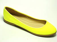 Яркие летние балетки жёлтого цвета, фото 1