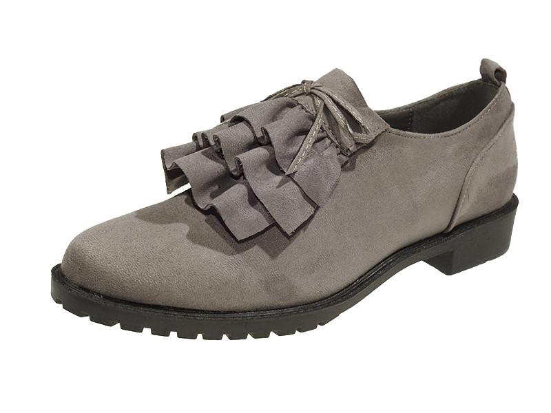 Серые туфли для девушек демисезонные