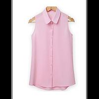 Шифоновая блуза без рукавов, фото 1