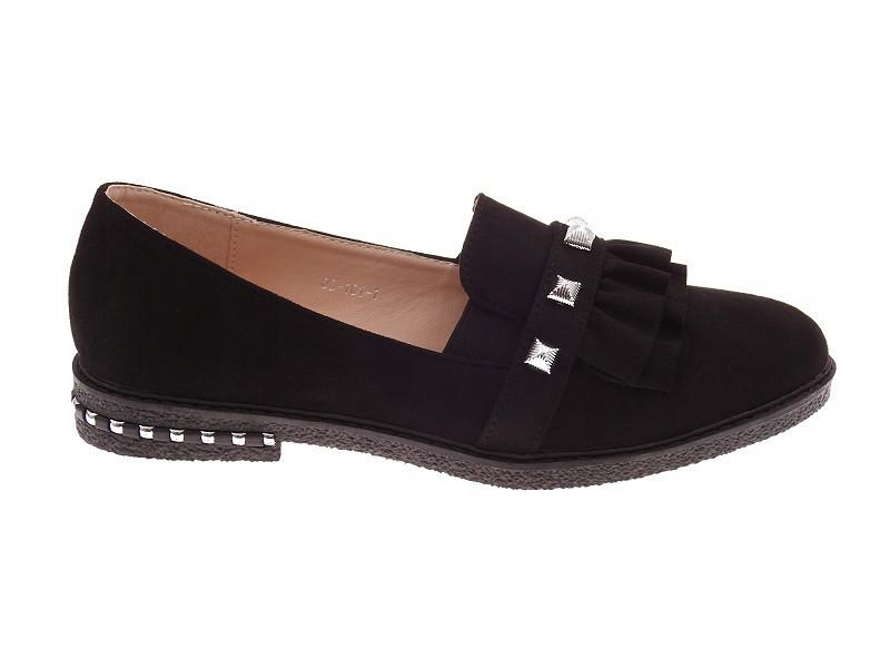 Женские очень красивые и стильные туфли чёрного цвета