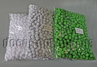 Помпони однотонні з блискітками для декору 1,5 см 1000шт
