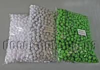 Помпоны однотонные с блестками для декора 1,5см 1000шт