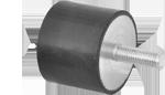 Цилиндрические резиновые виброгасители