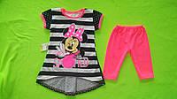 Детский костюм Мики маус для девочки  (футболка и шорты) 80-116см.