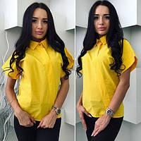 Женская блуза яркая с коротким рукавом
