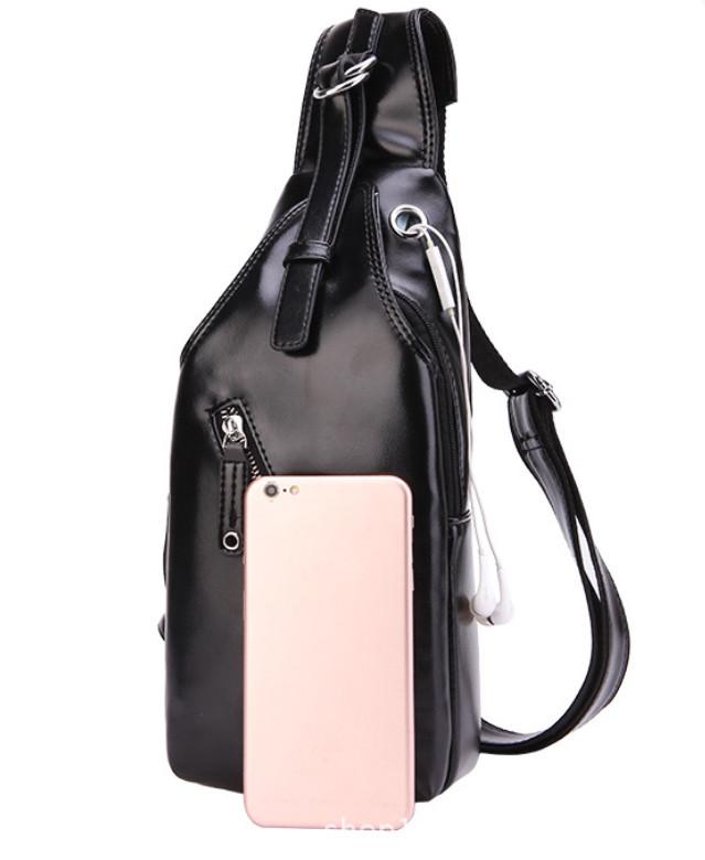 e8855c1c18e3 ... Мужская чоловіча спортивная кожаная сумка слинг рюкзак бананка 3 ...
