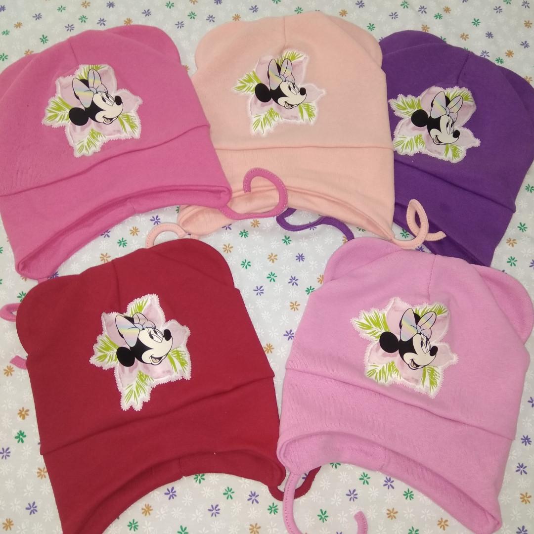 Трикотажная шапочка для девочек 6-9 мес.