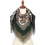 Свидание с летом 1814-9, павлопосадский платок шерстяной  с шелковой бахромой, фото 2