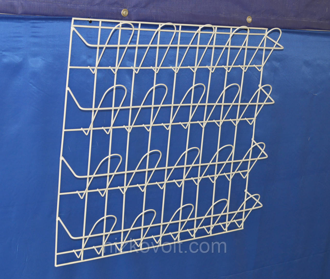 Стеллаж полка для полиграфической продукции навесная корзиночная 4 ряда по 5 ячеек .