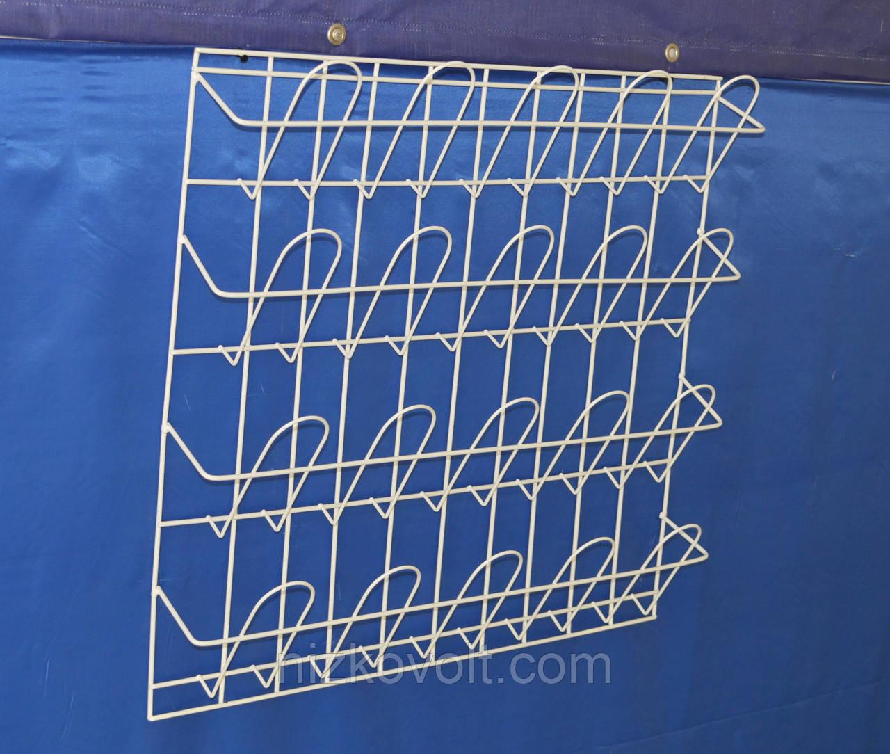 Стеллаж полка для полиграфической продукции навесная корзиночная 4 ряда по 5 ячеек ., фото 1
