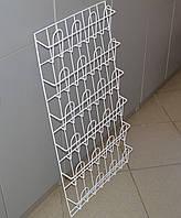 Торговая стойка  для полиграфической продукции навесная корзиночная 6 рядов по 4 ячейки, фото 1