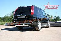 Защита задняя d 42/42 двойная Союз 96 на Nissan X-Trail 2011-2014