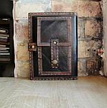 Обложка блокнота скетчбука ежедневника в коже ручная работа подарок, фото 2