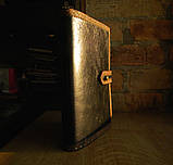 Обложка блокнота скетчбука ежедневника в коже ручная работа подарок, фото 3