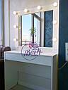 Гримерный столик с широким отделением под столешницей, стол для макияжа с зеркалом, фото 2