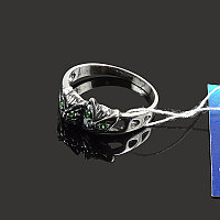 Серебряное кольцо Котики с фианитами