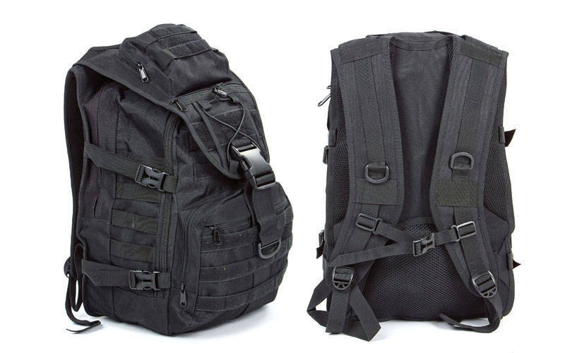 Рюкзак тактичний штурмової V-30л Tactic TY-9900 колір чорний (45х32х15,5 см.)