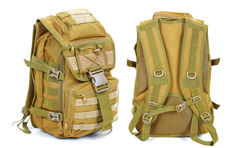 Рюкзак тактический штурмовой V-30л Tactic TY-9900  цвет хаки (45х32х15,5 см.)