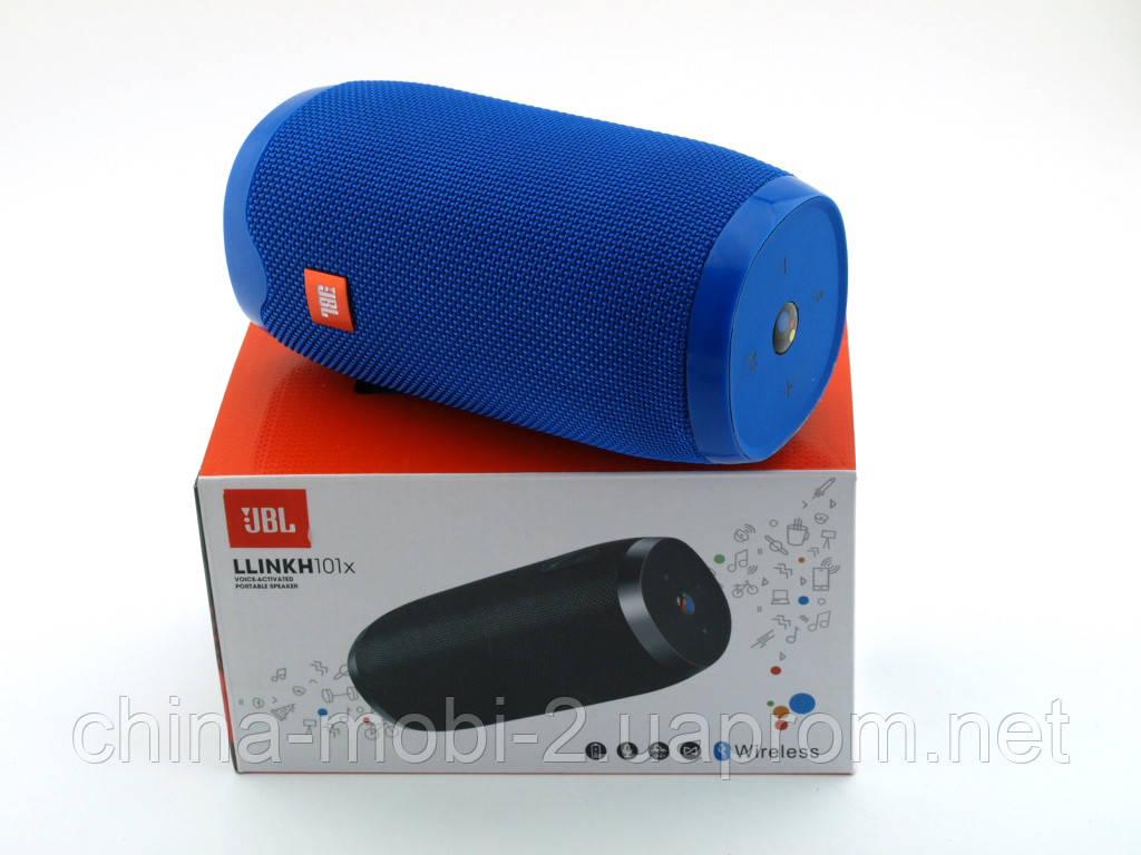 JBL Llink h101x 16W копия link, портативная колонка с Bluetooth FM MP3, синяя