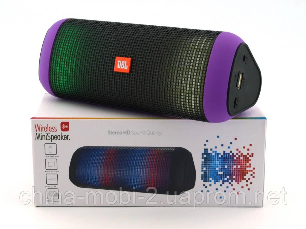 JBL Pulse 2 X2 копия, колонка 5W с Bluetooth MP3, фиолетовая