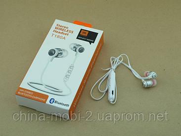 JBL T180A копія, Bluetooth навушники гарнітура, білі