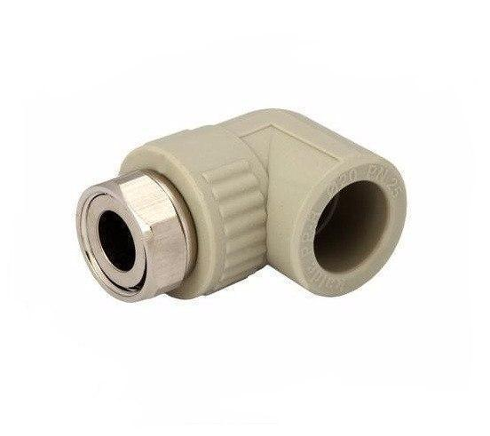 Угол с накидной гайкой 25*3/4 для пайки полипропиленовых труб PPR