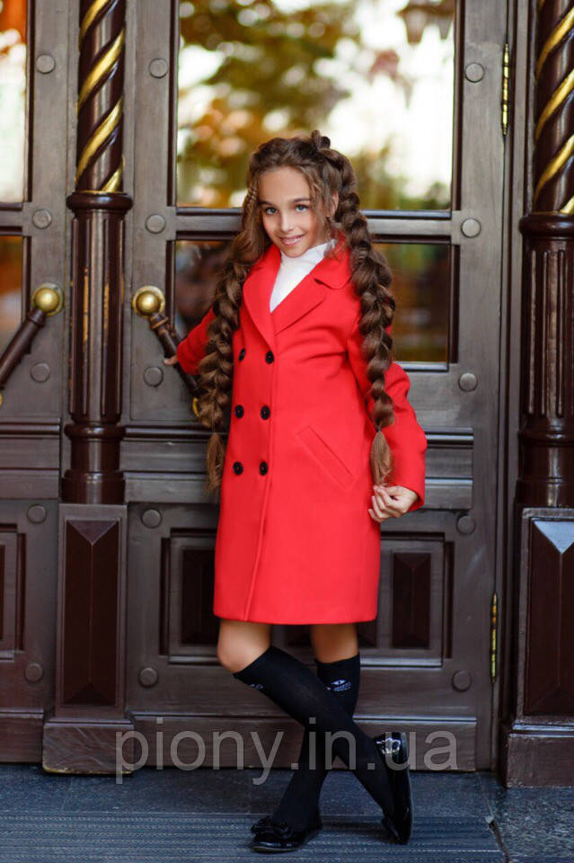 Детское Пальто Кашемировое на девочку