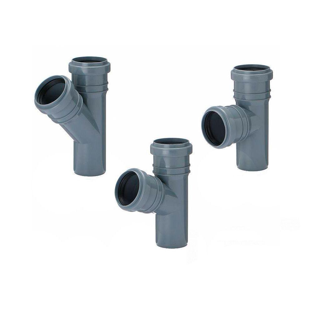 Тройник Инсталпласт50x50 мм 90° канализационный