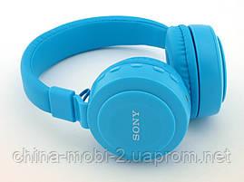 Sony MDR-XB100BT копия, Bluetooth наушники гарнитура c FM MP3, голубые, фото 3