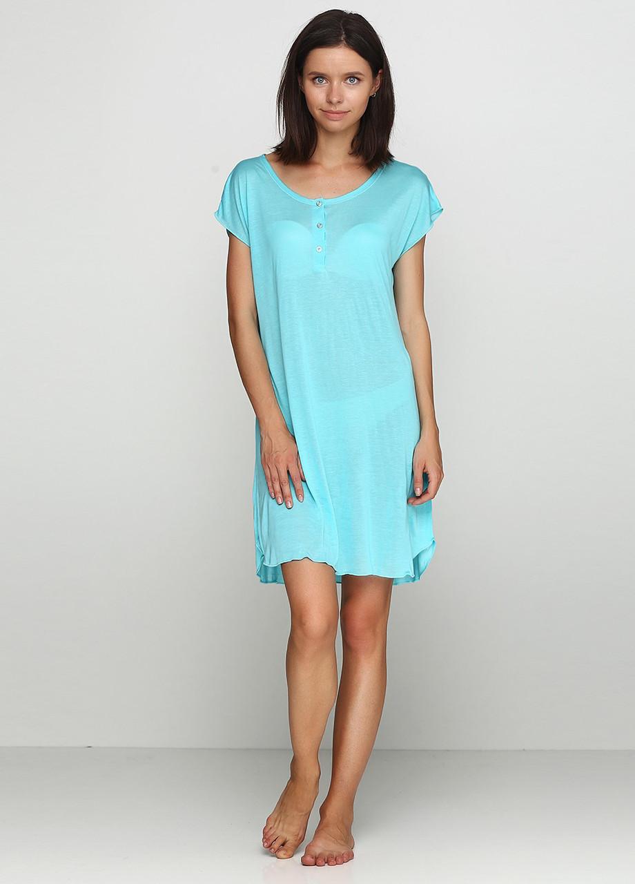 Женская ночная сорочка с коротким рукавом