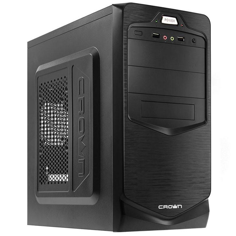 ►Корпус Crown СМС-401 Black компьютерный блок питания 450 Вт разъемы USB 2.0 х 2 наушники микрофон